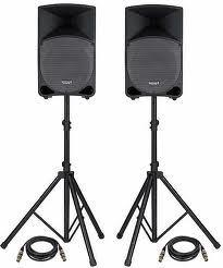 Speakers with Stands (2)