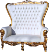 Sofia Gold Throne Love Seat