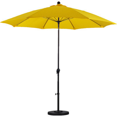 9' Yellow Umbrella With Base