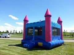 15x15 Pink Castle Bounce House