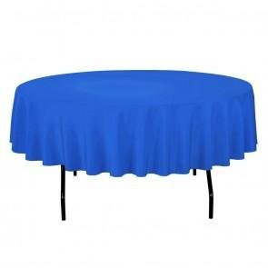 Royal Blue Half Drop 108 Inch w/Umbrella Hole