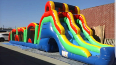Obstacle Course Water Slide