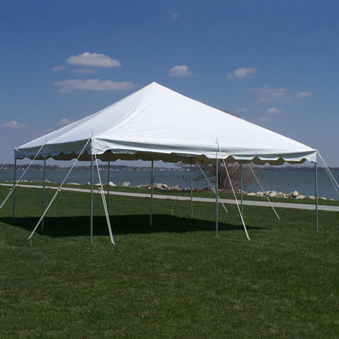 20 X 20 pole tent, tables, & chairs combo