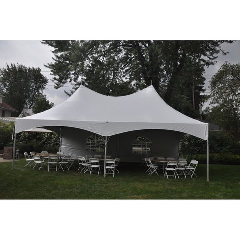 20 X 30 tent, 9-8' banquet tables, and 72 chairs