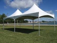 20ft X 40ft White 2-Piece Hi Peak White Tent