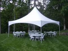 20ft X 20ft tent, 5 - 5ft Round Tables, 40 Chairs