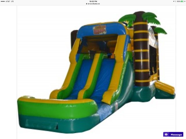 Tropical bounce with dual lane slides