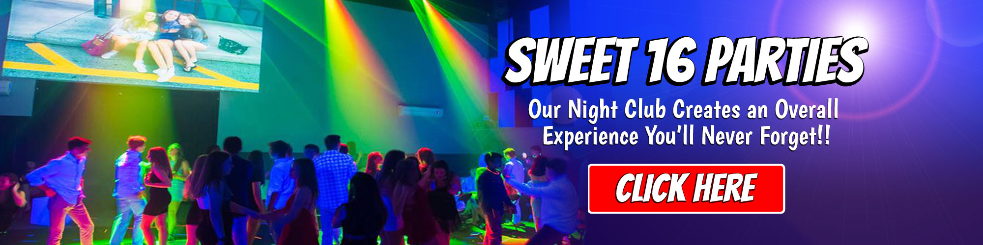 Sweet 16 Night Club Party