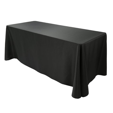 8ft Black Banquet Table Linen (At Our Facility)
