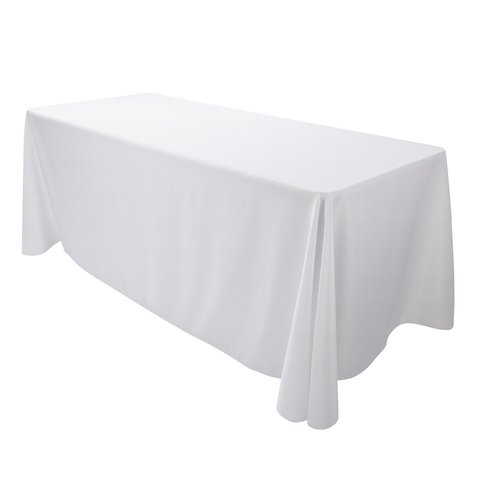 8ft White Table Table Linen (At Our Facility)