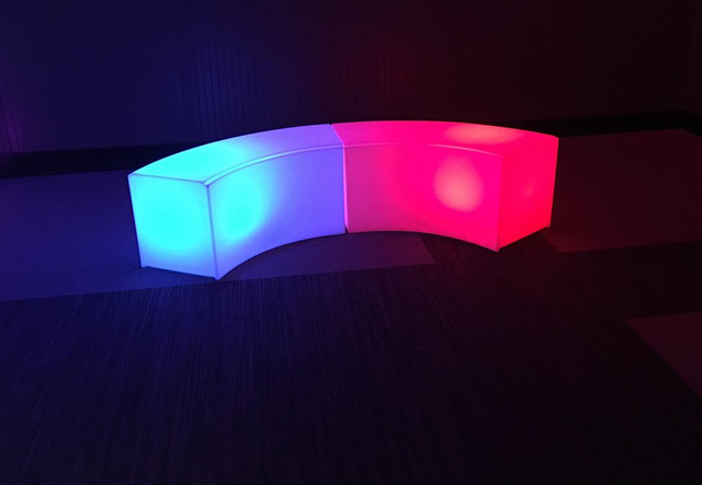 LED Curved Bench(At Your Location)
