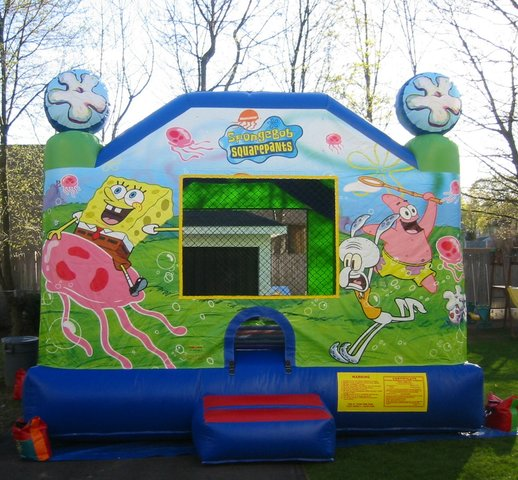 Themed Sponge Bob Bounce House