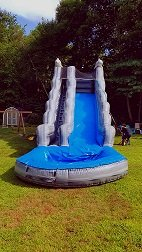 18' Gray Marble Super Water Slide