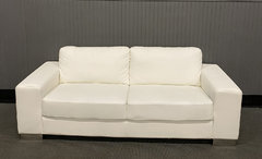 White Leather Couch (At Your Location)