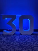 Block 30 Lettering with LED Lights (At Your Location)