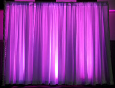 8' x 10' LED White Pipe and Drape (At Your Location)
