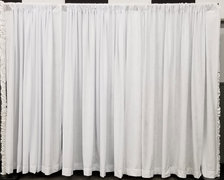 8' x 10' White Pipe and Drape (At Your Location)