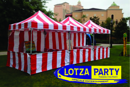 Carnival tent rentals by Lotza Party