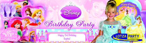 Disneys Princesses party package