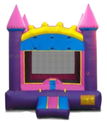 Arched Pink Castle Bounce House