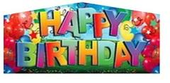 Modular Happy B-day banner