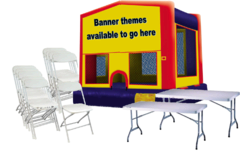 Standard Jump House, 15 Chairs, 2 Tables Package
