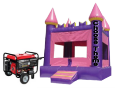 Park Package Purple Castle Jump House with Generator