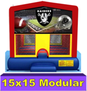 Oakland Raiders Modular Bounce House 15x15