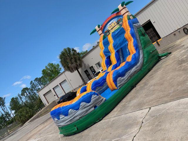 20' Ft. Ultimate Tiki Plunge Water Slide w/Pool Wet / Dry *NEW
