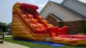 22Ft Large Fire and Ice Waterslide
