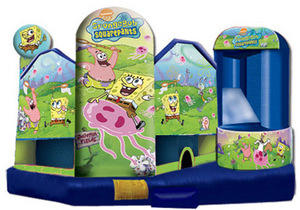 Large Sponge Bob 5 in 1 3D Combo w/slide