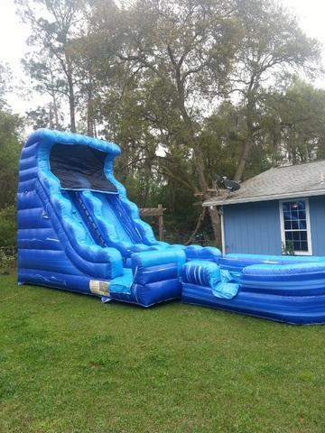 19' Ft. Tsunami Marble Water Slide w/Pool Wet / Dry