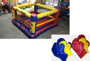 Inflatable Boxing Ring w/ Large Boxing Gloves