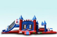 46' Large Dual Lane All American Obstacle Course Combo (Dry)