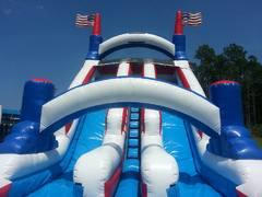Dry 24ft. High Extra Large Big Country Dual Lane Dry Slide