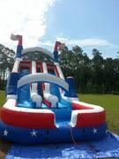 24Ft H Extra Large Big Country Dual Lane Water Slide w / Pool