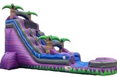 22' Ft. Purple Rain Purple Thunder Water Slide