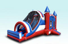 Large Dual Lane All American Bouncehouse 5 in 1 Combo (Dry)