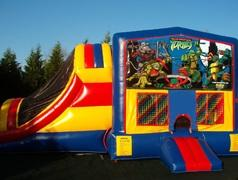 Ninja Turtles 5 in 1 Waterslide / Dry Slide Combo Bouncehouse