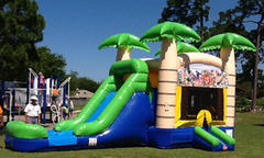 Large Tropical Island Waterslide Combo 5 in 1