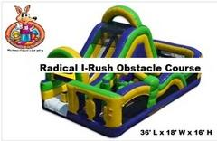 Radical I-Rush Extreme Dual Slide Lane Obstacle Course