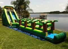 62Ft Long 22Ft H Extra Large Screamer Water Slide Combo w / Slipe N' Slide