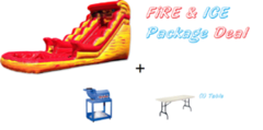 20Ft Large Fire and Ice Waterslide / Dry Slide Package Deal