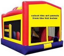 Plain 5 in 1 Combo Bouncehouse w/slide