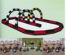 Inflatable Race Track with Racing Trikes