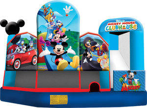 Large Mickey Mouse Clubhouse Park 5 In 1 3D Combo w/slide