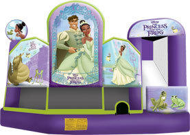 Large Princess & The Frog 5 in 1 3D Combo Bouncehouse w/slide