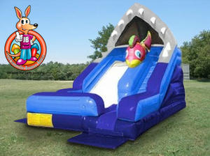 16' Ft. Shark Escape Waterslide