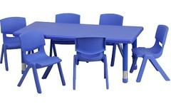 Kids Blue Chair & Table