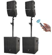 3000 Watts Powered Music /PA System with Array Speakers